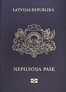 Questa immagine ha l'attributo alt vuoto; il nome del file è 220px-Latvian_non-citizens_passport1.jpg